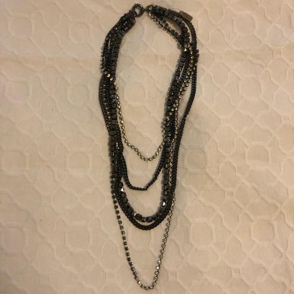 *NWT Madewell Layered Black Diamond Necklace